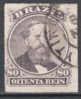 Brasile 1876 Y.T.33 O/Used VF/F - Brazilië