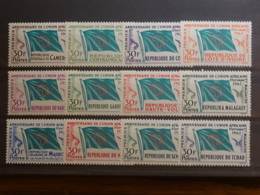 UAM 12 Pays 12 Timbres Neufs** De 1962 (Cameroun, Centrafrique, Congo, Côte D'Ivoire, Dahomey, Gabon, Haute Volta, - Zonder Classificatie
