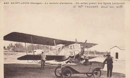 SAINT-LOUIS (Sénégal): Au Terrain D'aviation - Un Avion Postal Des Lignes Latécoère (tacot Au 1er Plan) - 1919-1938: Fra Le Due Guerre