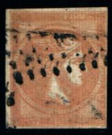 10273) 1863-68 Greece/Grecia, 40 Lepta ROSA CHIARO SU VERDASTRO - N° 22A- USATO- - Oblitérés