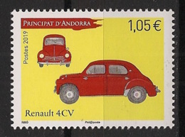 Andorre - 2019 - N°Yv. 835 - Auto / Cars / Renault 4CV - Neuf Luxe ** / MNH / Postfrisch - Unused Stamps