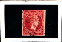 10273) 1863-68 Greece/Grecia, 80 Lepta ROSA CARMINIO - N° 23- USATO- - Oblitérés