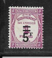 TAXE N° 65 NEUF ** - NI CLAIR NI AMINCI - COTE = 180.00 € - 1859-1955 Mint/hinged