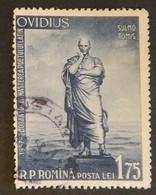 """ROUMANIE YT 1539 OBLITÉRÉ"""" STATUE D OVIDE"""" ANNÉE 1957 - 1948-.... Repúblicas"""
