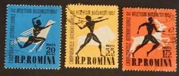 """ROUMANIE YT 1536/1538 OBLITÉRÉS"""" ATHLÉTISME"""" ANNÉE 1957 - 1948-.... Repúblicas"""