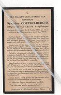 DYMPHNA COECKELBERGHS ° VISSENAKEN 1917 + 1940 / EDUARD VANGILBERGEN - Devotion Images