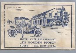 Suikerzakje.- SOEST. HOTEL CAFÉ RESTAURANT - DE GOUDEN PLOEG -. Suiker Sucre Zucchero Zucker Sugar - Suiker