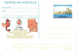 CARTOLINA INTERO POSTALE ITALIA 2008 - MOLPHIL '08 - 6. 1946-.. Repubblica