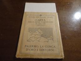 CARTINA PALERMO -  LA CONCA D'ORO E DINTORNI- CLUB ITALIANO -MILANO - Histoire, Philosophie Et Géographie