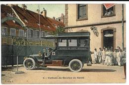 Voiture Du Service De SANTE (BELFORT), Envoi 1913 - Belfort - Ville