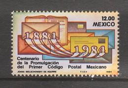 TIMBRE NEUF DU MEXIQUE - CENTENAIRE DU PREMIER CODE POSTAL MEXICAIN N° Y&T 1039 - Codice Postale