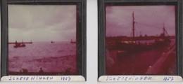 Scheveningen, 2 Plaques En Verre Photo 1952. - Glasdias