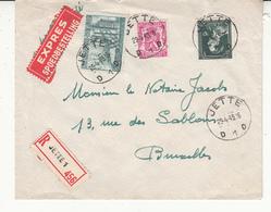 Enveloppe  Léopold III Recommandé - 1934-1935 Leopoldo III