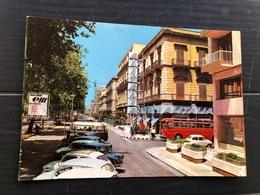 PALERMO VIA LIBERTA' SEDE ALITALIA  AUTOBUS  1966 - Palermo
