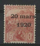 MONACO N° 39 Cote 35 €. 15ct + 10ct Rose. Neuf * (MH). Série Du Mariage De La Princesse Charlotte. - Ungebraucht