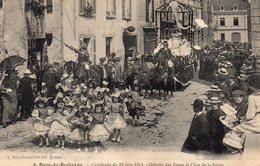 BAIN DE BRETAGNE CAVALCADE DU 22 JUIN 1913 GROUPE DES ROSES ET CHAR DE LA REINE - Altri Comuni