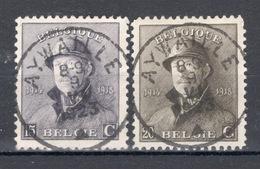 BELGIE: COB 169/170 Mooi Gestempeld. - 1919-1920 Behelmter König