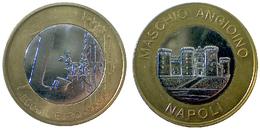 04413 GETTONE JETON TOKEN LOCAL PRE EURO NAPOLI MASCHIO ANGIOINO 1 EURO - Italy