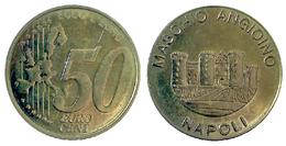 04556 GETTONE JETON TOKEN LOCAL PRE EURO NAPOLI MASCHIO ANGIOINO 50 CENT - Italy