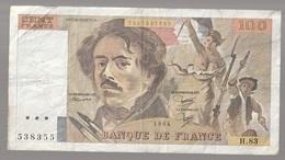 France Billet De 100 Francs Eugène Delacroix  1984  (v) - 1962-1997 ''Francs''