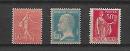 France N°181a/199n/283s** Un Lot De Faux Pour Tromper La Poste. Cote 125€ - Curiosities: 1921-30 Mint/hinged