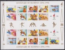 Mongolia 26.06.1996 IMPERF Klbg Mi # 2633-44, Atlanta Summer Olympics, MNH OG - Verano 1996: Atlanta