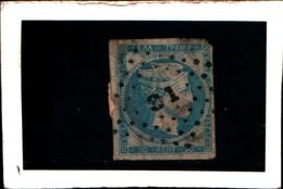 10275) 1869-70 Greece/Grecia, 10 Lepta Arancio S. Azzurrino - N° 27- USATO- - Oblitérés