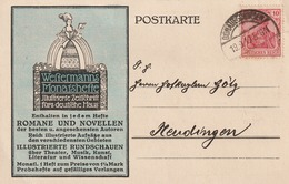 Deutsches Reich / 1919 / Postkarte Stegstempel Donaueschingen < Int. Firmenzudruck Auch Rueckseits > (5230) - Germany