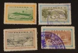 """PANAMA YT 318/321 OBLITÉRÉS"""" EXPOSITION DE BRUXELLES"""" ANNÉE 1958 - Panama"""