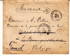 Enveloppe De Russie  1898 Vers La Belgique  ( Cachet Arrivé     Panne Bains  2 Scan - Storia Postale
