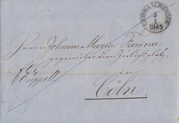 Thurn & Taxis Brief K1 Grossalmerode 5.1.1863 Gel. Nach Cöln Mit Inhalt - Thurn Und Taxis