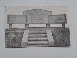 Carte Belgique Thulin Monument Aux Héroiques Soldats Français Ww2 - Belgium
