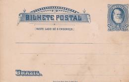 BRASIL 40 QUARENTA REIS BILHETE POSTAL. ENTIRE POSTAL NOT CIRCULATED -LILHU - Postwaardestukken