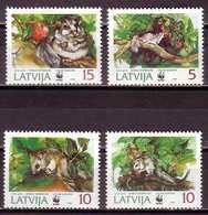 Edible Dormouse WWF Latvia MNH 4 Stamps 1994 - W.W.F.