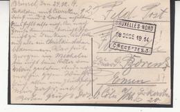 1914 Cachet  Oblitération Provisoire D'occupation    Bruxelles Nord  Recette N° 3 - WW I