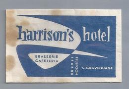 Suikerzakje.- 's-GRAVENHAGE. - HARRISON'S HOTEL -. Suiker Sucre Zucchero Zucker Sugar - Suiker