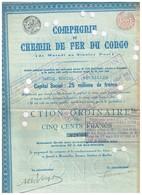 Titre Ancien - Compagnie Du Chemin De Fer Du Congo - De Matadi à Stanley Pool - Titre De 1889 - N° 29561 - Afrique