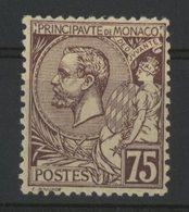 MONACO N° 19 Cote 38 €. 75ct Violet-brun. Neuf * (MH). Type Albert 1er. TB - Nuovi