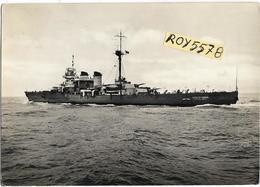 Tema Navi Veduta Nave Incrociatore Duca Degli Abruzzi In Navigazione Anni 40 (v.retro) - Guerra