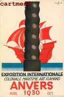 ANVERS EXPOSITION INTERNATIONALE COLONIALE MARITIME ART FLAMAND 1930 ILLUSTRATEUR MARFURT - Antwerpen
