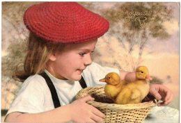 FANTAISIE FÊTES : JOYEUSES PÂQUES AVEC ENFANT ET POUSSINS - Pâques