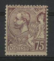 MONACO N° 19 Cote 53 €. 75ct Violet. Neuf ** (MNH). TB - Monaco