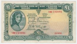 Ireland 1 Pound 1951 VF+ Pick 57b  57 B - Ireland