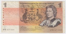 Australia 1 Dollar 1969 VF+ CRISP Banknote Pick 37c 37 C - Emissioni Governative Decimali 1966-...