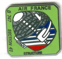 Pin's Avion Air France Boeing B747 (signé Ballard) - Aerei