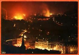 54 LONGWY La Nuit La Ville Et Les Hauts Fourneaux  Carte Vierge TBE (scan Recto Verso) - Longwy