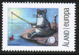 2014 Aland Islands, Personal Stamp, Fishing Cat MNH. - Aland