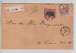 CBPND47/ TP 140 (coin Rond) - 144 S/L.Recommandée C.Relais - Etoile Marcke 10/9/21 > Cuerne - Kurne - Storia Postale
