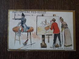 L25/228 Chromo - A La Fontaine Pied-Boulet . Le Peintre D'histoire - Other