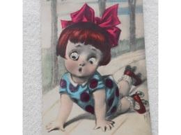 Cpa  Humour Humor Yeux Oeil En Relief  CHILDREN - GIRL Petite Fille Madchen - Cartes Humoristiques